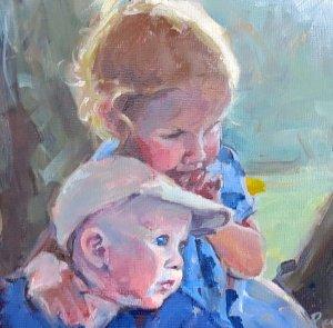 American portrait artist, sibling portrait
