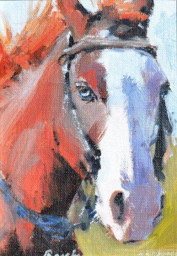 horse portrait painting