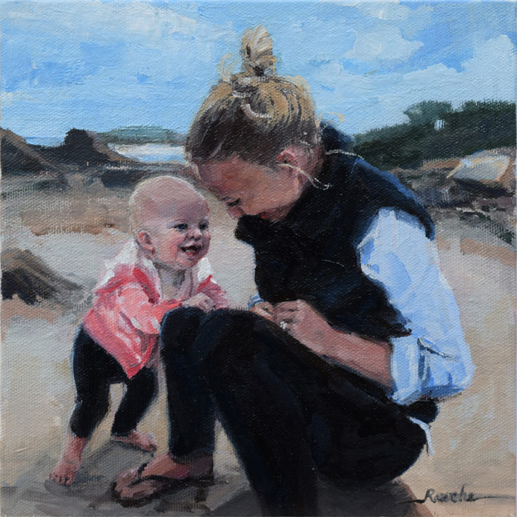 child portrait painting - hire a portrait artist