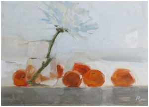 Oranges and the Dahlia ● SOLD
