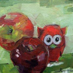 Three of a Kind red art