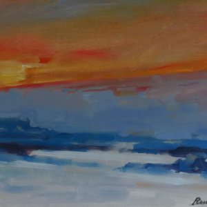 Sunset over Snow ● SOLD