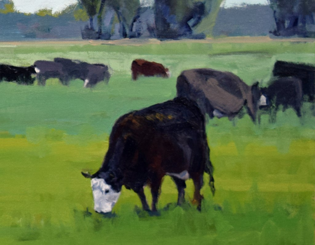 cow painting south dakota