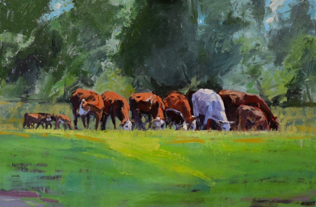 south dakota cow paintings