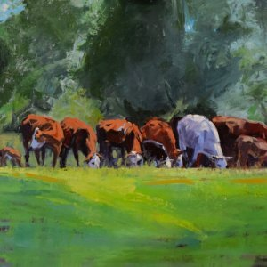 cow paintings and horse paintings