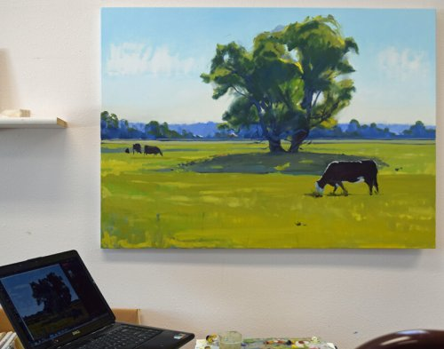 cow painting in progress