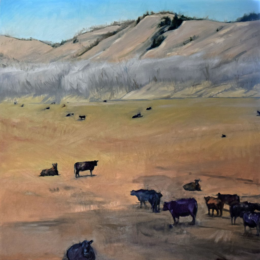 nebraska cow painting artist