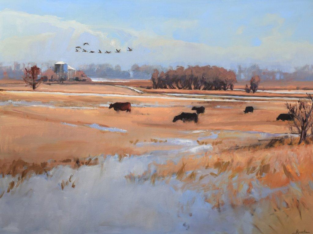 south dakota landscape oil painting