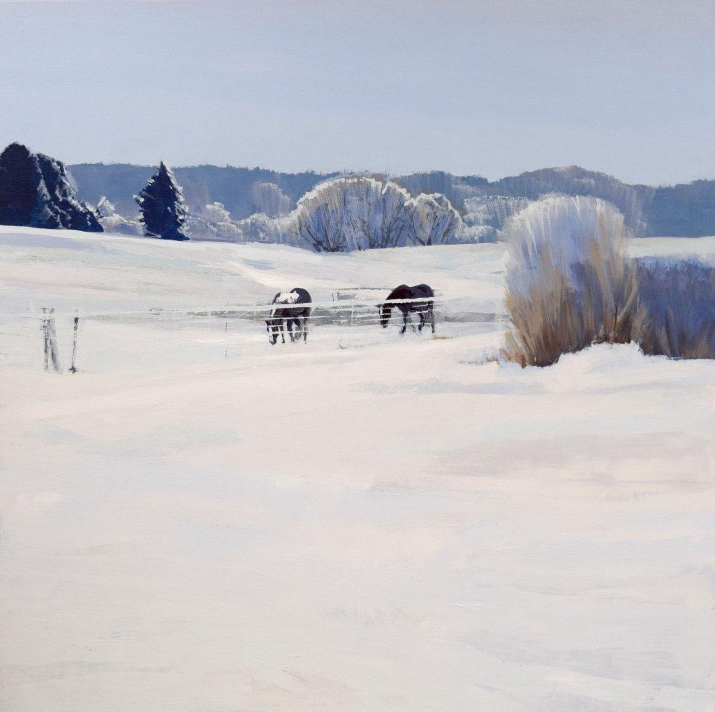 south dakota snow horse landscape paintings