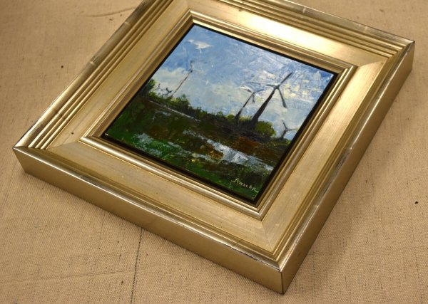 minnesota landscape oil painting windmill