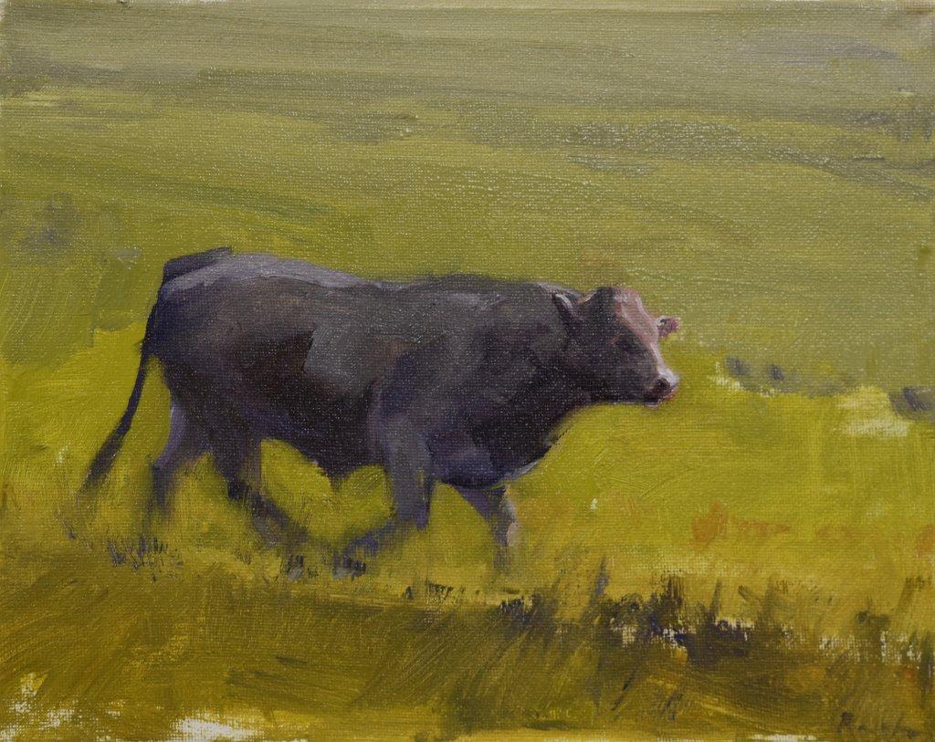 impressionist realist cow