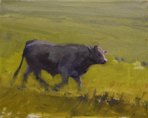 impressionist realist cow