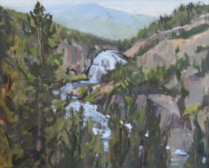 yellowstone upper falls painting