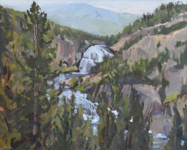 yellowstone upper falls painting