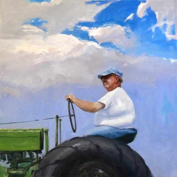 painting of farmer