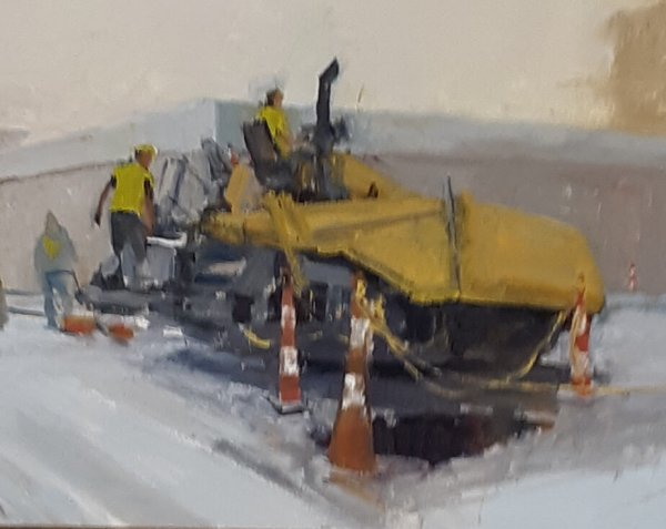 painting of road workers