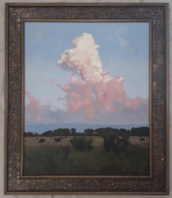 south dakota midwest cloud cow painting