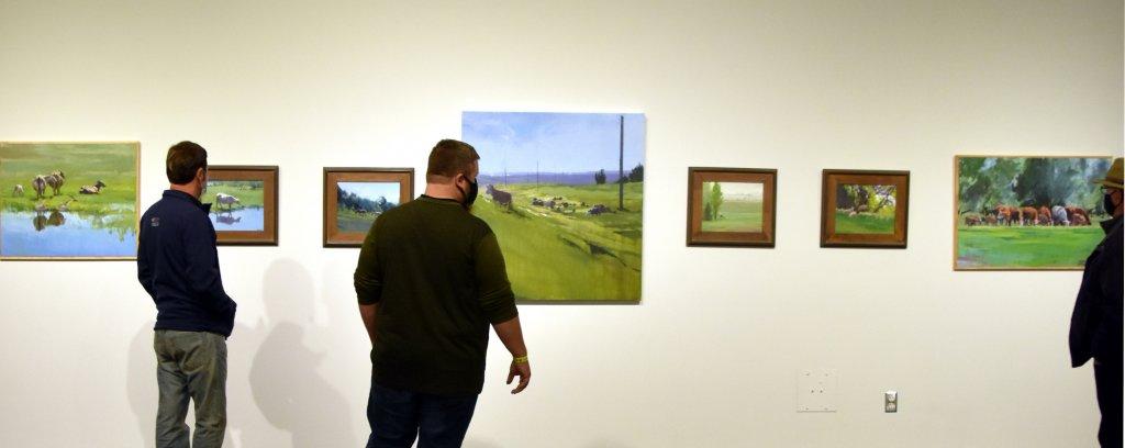 south dakota cow painting exhibition