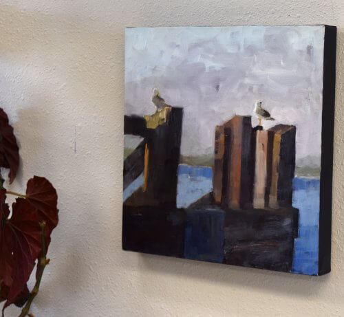 edmonds washington seagull painting
