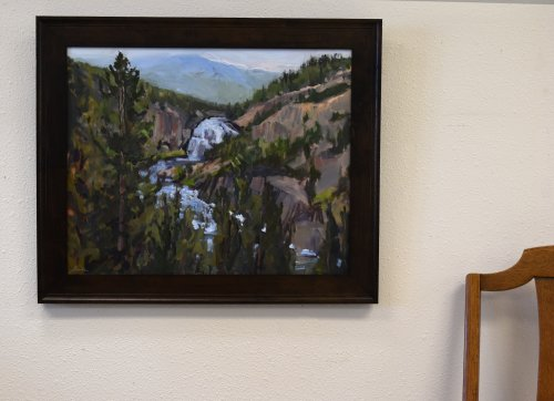 yellowstone park oil painting