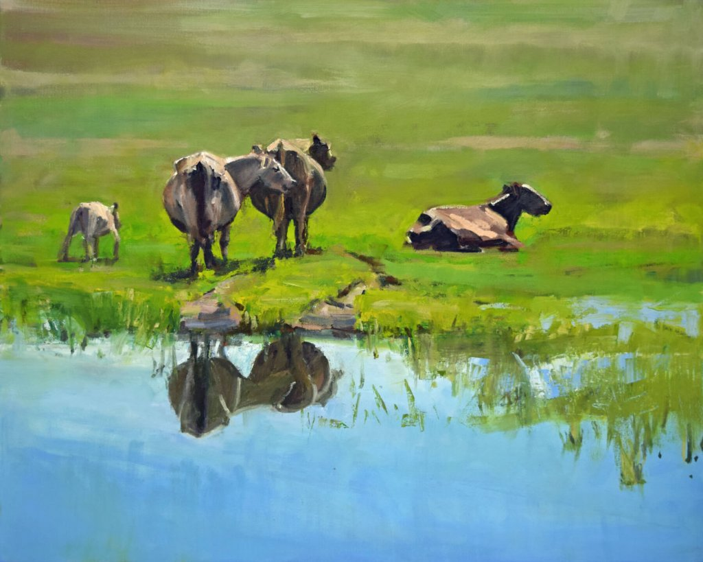 south dakota cow painting