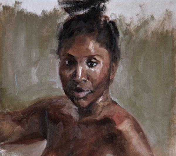 portrait oil painting of woman