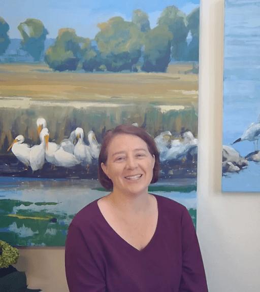 online painting class teacher