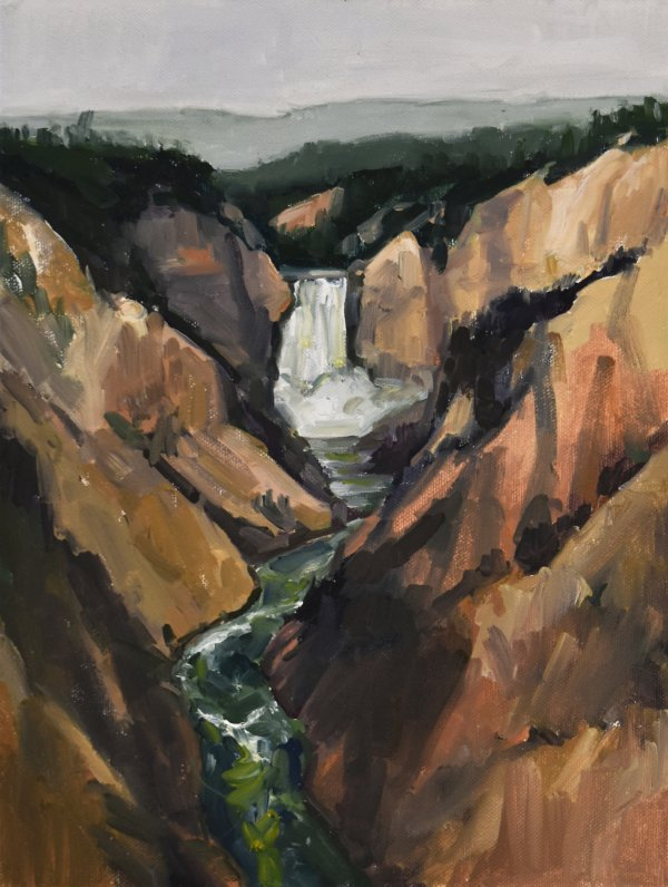 yellowstone national park painting