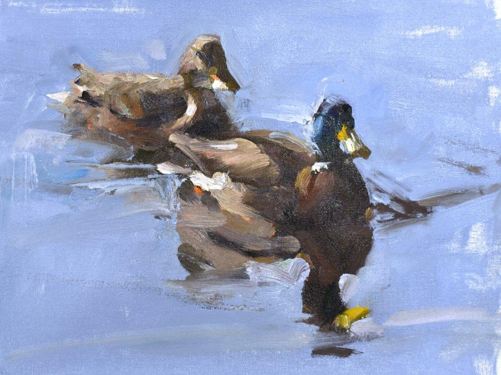 impressionist duck painting