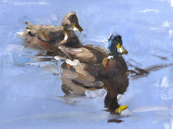 impressionist duck painting