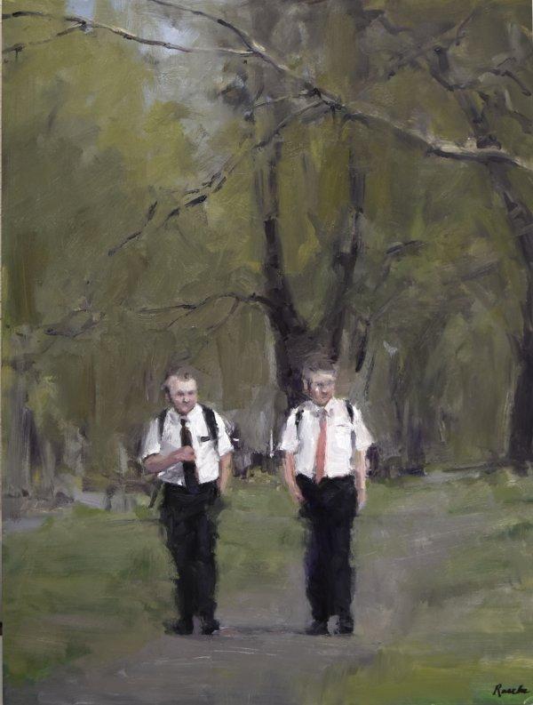 mormon missionaries painting